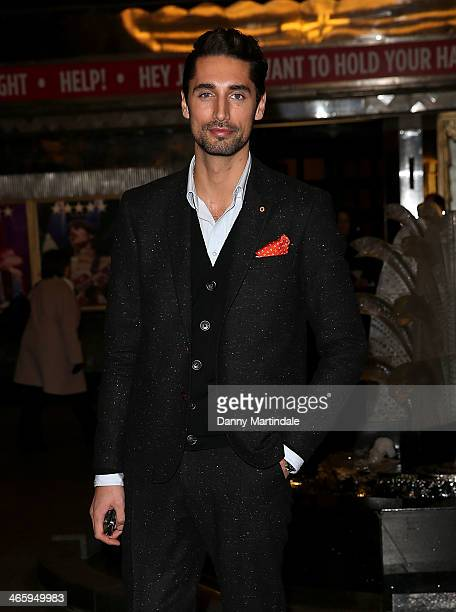Hugo Taylor attends 'Kate Moss At The Savoy' an exhibition of never before seen photographies of Kate Moss at The Savoy Hotel on January 30 2014 in...