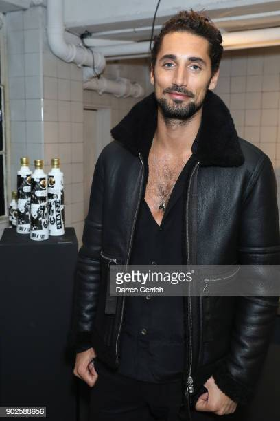 Hugo Taylor attends the Belstaff AW18 Mens Womens Presentation during London Fashion Week Men's January 2018 on January 8 2018 in London England