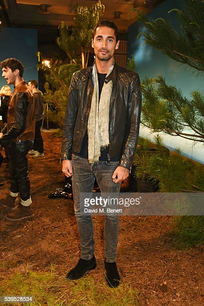 Hugo Taylor attends the Belstaff presentation during The London Collections Men SS17 at QEII Centre on June 12 2016 in London England