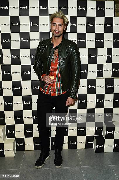 Hugo Taylor attends the Serpentine Future Contemporaries x Harrods Party 2016 at The Serpentine Sackler Gallery on February 20 2016 in London England