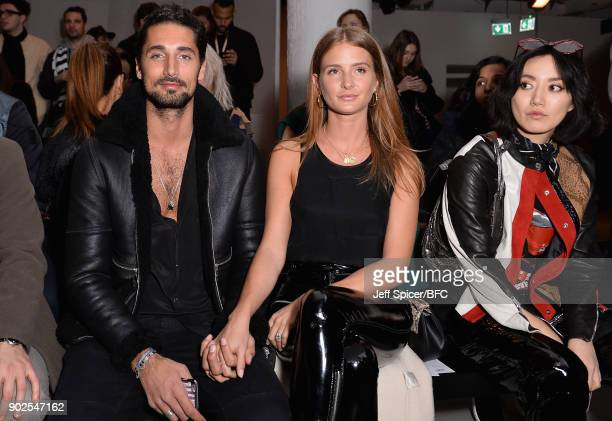 Hugo Taylor Millie Mackinstosh and Betty Bachz attend the Blood Brother show during London Fashion Week Men's January 2018 at BFC Show Space on...