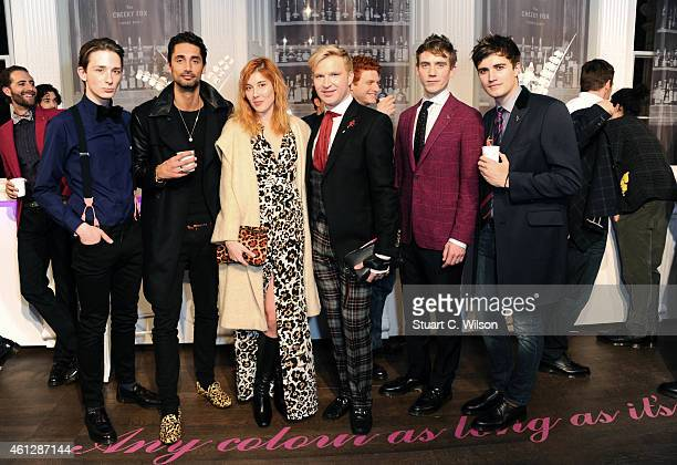 Hugo Tayor Paula Goldstein and Henry Conway attend as Thomas Pink creates a unique paper installation and showcases the Autumn Winter 2015 collection...
