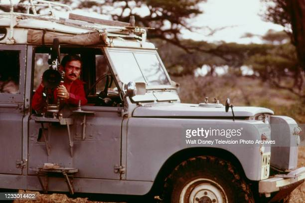 Hugo Van Lawick appearing on the ABC tv special 'Jane Goodall and the World of Animal Behavior: The Lions of the Serengeti'.