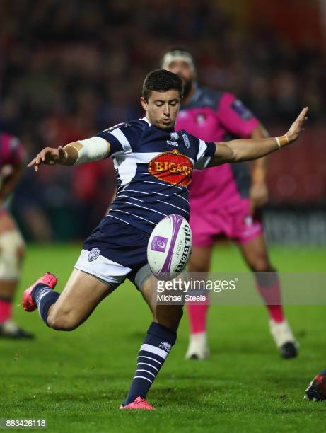 Hugo Verdu of Agen during the European Rugby Challenge Cup Pool 3 match between Gloucester and Agen at Kingsholm on October 19 2017 in Gloucester...