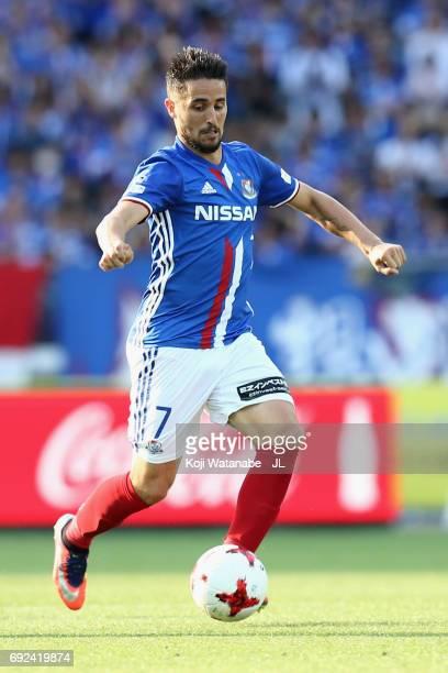 Hugo Vieira of Yokohama F.Marinos during the J.League J1 match between Yokohama F.Marinos and Kawasaki Frontale at Nissan Stadium on June 4, 2017 in...