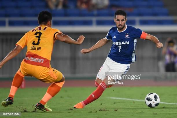Hugo Vieira of Yokohama F.Marinos in action during the J.League J1 match between Yokohama F.Marinos and Shimizu S-Pulse at Nissan Stdium on August...