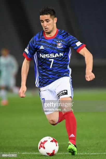 Hugo Vieira of Yokohama F.Marinos in action during the J.League J1 match between Yokohama F.Marinos and Jubilo Iwata at Nissan Stadium on April 8,...