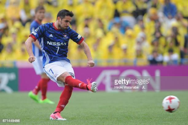 Hugo Vieira of Yokohama F.Marinos in action during the J.League J1 match between Kashiwa Reysol and Yokohama F.Marinos at Hitachi Kashiwa Soccer...