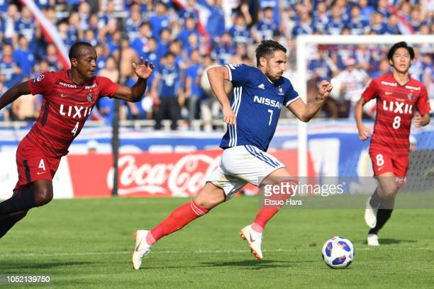 Hugo Vieira of Yokohama F.Marinos in action during the J.League Levain Cup semi final second leg match between Yokohama F.Marinos and Kashima Antlers...