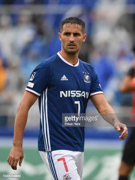 Hugo Vieira of Yokohama F.Marinos looks on during the J.League J1 match between Yokohama F.Marinos and Vegalta Sendai at Nippatsu Mitsuzawa Stadium...