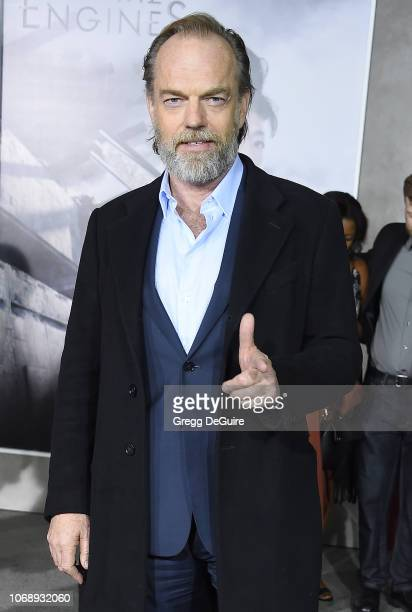 Hugo Weaving arrives at the Premiere Of Universal Pictures' Mortal Engines at Regency Village Theatre on December 5 2018 in Westwood California