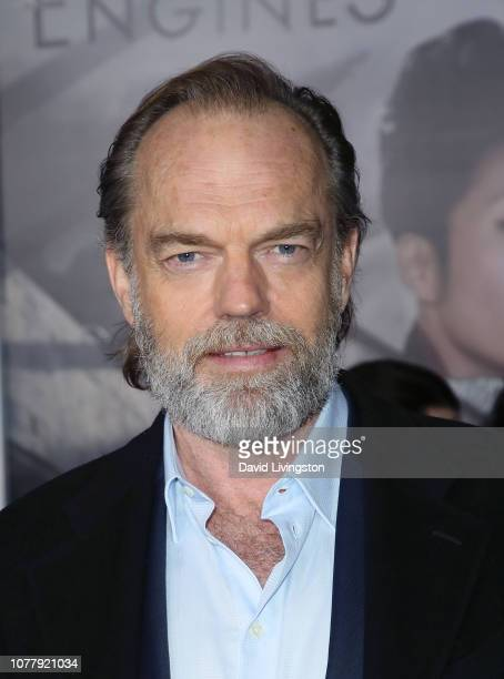 Hugo Weaving attends the premiere of Universal Pictures' Mortal Engines at the Regency Village Theatre on December 05 2018 in Westwood California