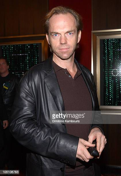 Hugo Weaving during Matrix Reloaded New York Premiere Inside Arrivals at Ziegfeld Theater in New York City New York United States