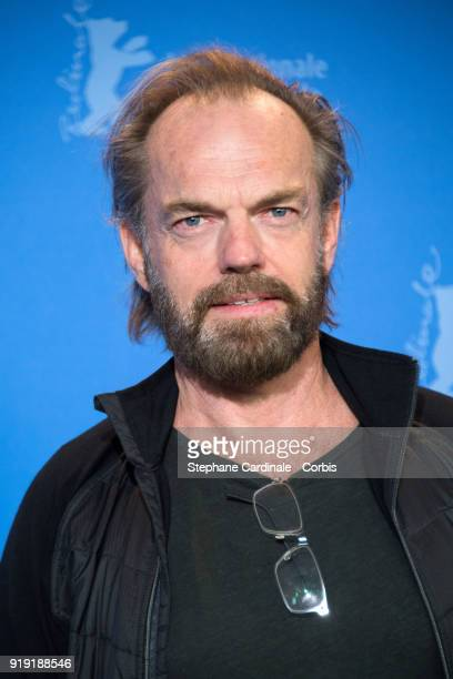 Hugo Weaving poses at the 'Black 47' photo call during the 68th Berlinale International Film Festival Berlin at Grand Hyatt Hotel on February 16 2018...