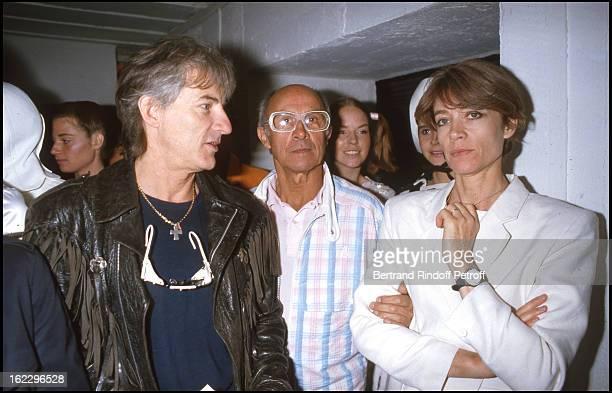 Hugues Aufray André Courreges and Francoise Hardy at 1960's exhibition Fondation Cartier Paris