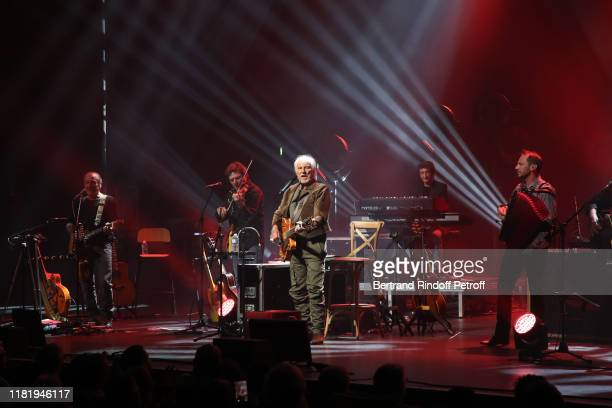 Hugues Aufray performs at Salle Pleyel on October 18 2019 in Paris France