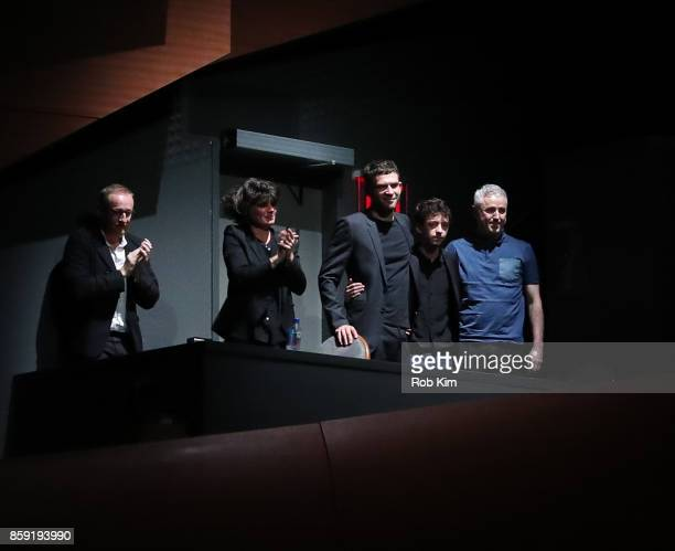 Hugues Charbonneau MarieAnge Luciani Arnaud Valois Nahuel Perez Biscayart and Robin Campillo appear at the screening of 'BPM ' during the 55th New...