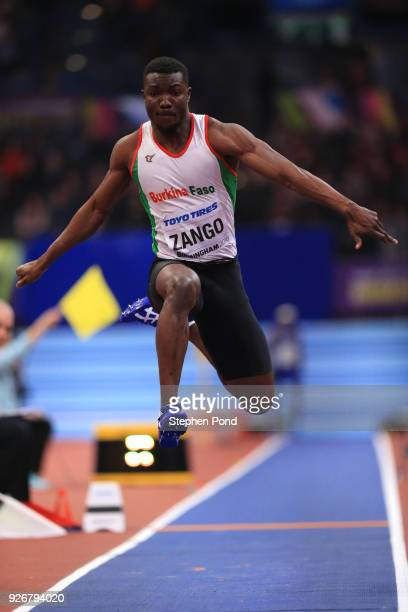 Hugues Fabrice Zango of Bukina Faso competes in the Triple Jump Mens Final during the IAAF World Indoor Championships on Day Three at Arena...