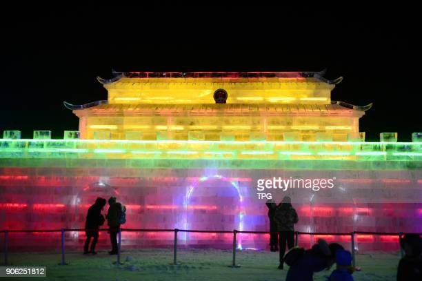 Huhtala ice and snow tourism culture festival hold on 16th January 2018 in HohhotInner Mongolia China