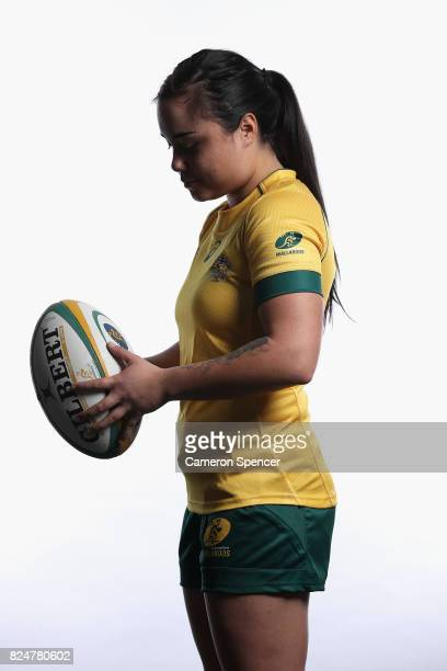 Huia Swannell poses during the Wallaroos World Cup Headshots Session at the Sydney Academy of Sport on July 30 2017 in Sydney Australia