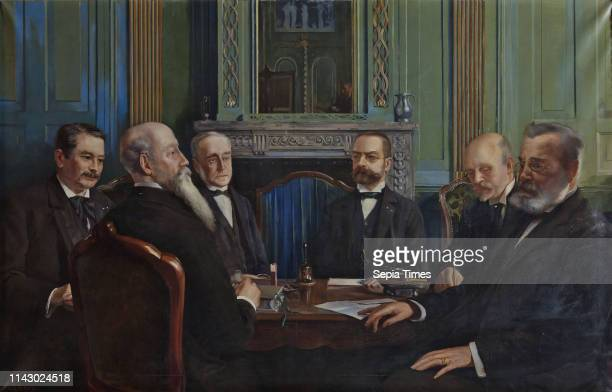 Huib Luns Portrait of The plate of the Holy Ghost House in 1899 group portrait portrait painting canvas linen oil painting Landscape rectangular...