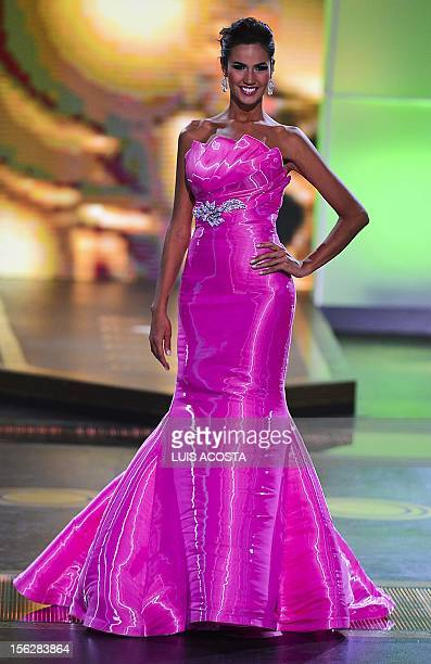 Huila Department's contestant Lorena Hermida performs during the Miss Colombia 2012 pageant final in Cartagena on November 12 2012 Twentyfive women...