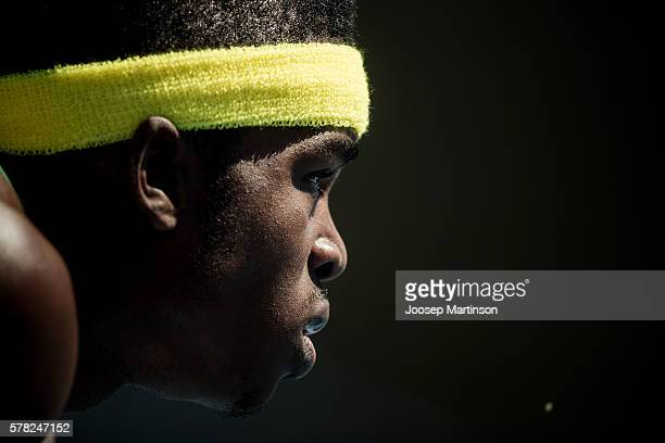 Hujaye Cornwall from Jamaica competes in men's 200 metres during the IAAF World U20 Championships at the Zawisza Stadium on July 21 2016 in Bydgoszcz...