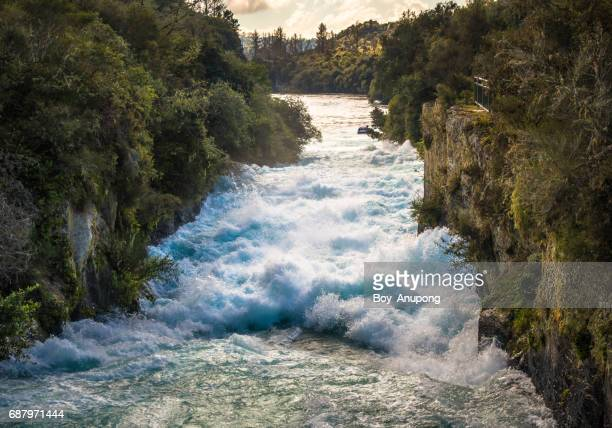 Huka Falls is New Zealand's Most Visited Natural Attraction, New Zealand.