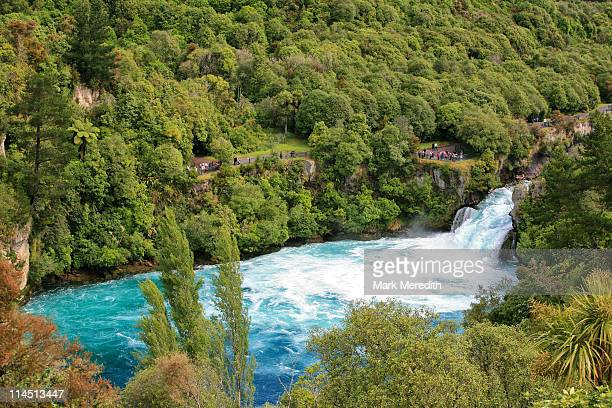 huka falls - north island new zealand stock pictures, royalty-free photos & images