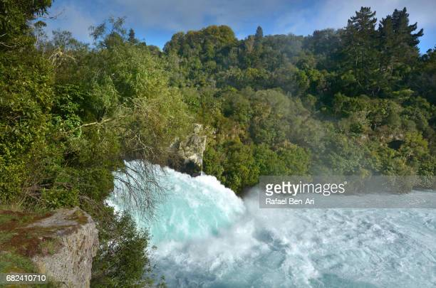 huka falls taupo new zealand - rafael ben ari stock pictures, royalty-free photos & images