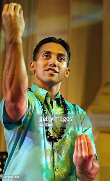 Hula Dancer during Discover Aloha Discover Venus Fort Hawaiian Festival Show at Venus Fort in Tokyo Japan