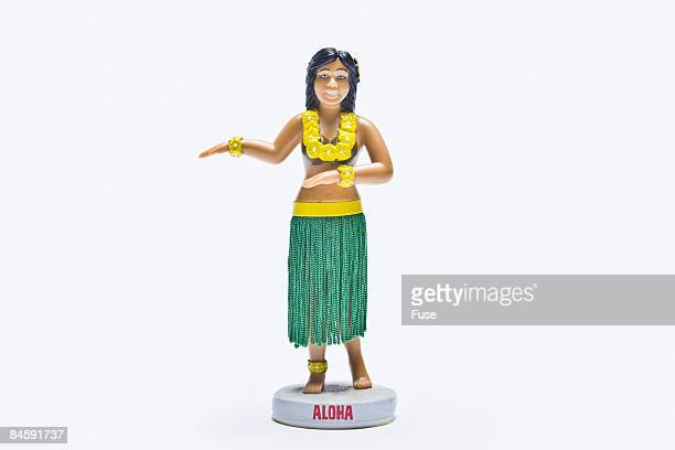 hula dancer figurine - hula dancer stock pictures, royalty-free photos & images