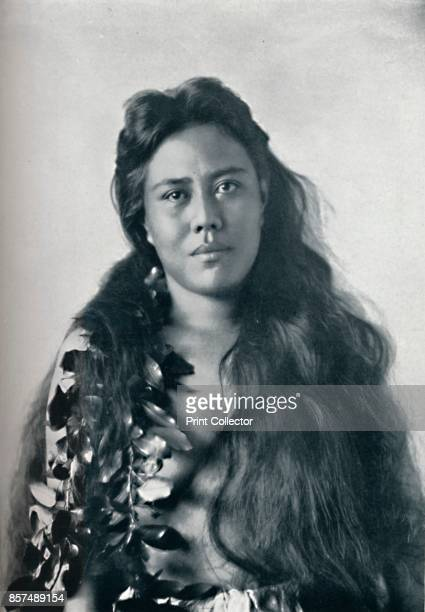 A Hula dancer Honolulu Hawaii 1902 From The Living Races of Mankind Vol I [Hutchinson Co London 1902] Artist Unknown