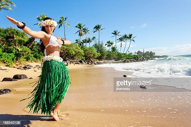 Hula Dancer on Beach