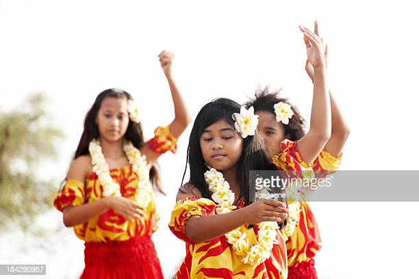 hula dancers - hula dancer stock pictures, royalty-free photos & images