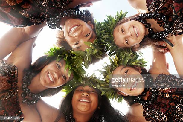 hula dancers - pacific islands stock pictures, royalty-free photos & images