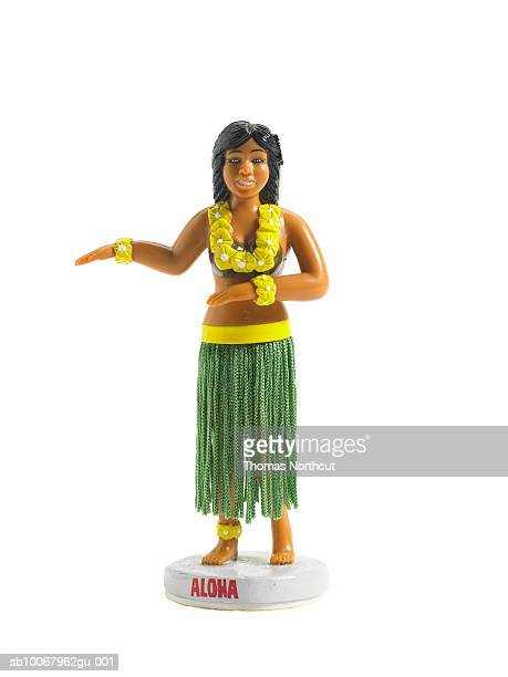 Hula dancing doll on white background