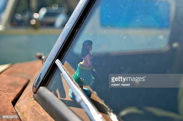 Hula girl car dash board ornament