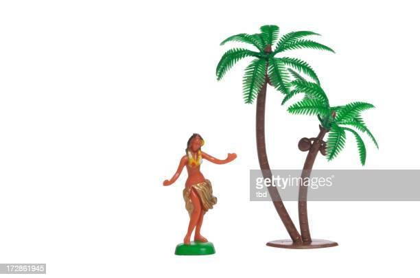 Hula-Mädchen mit Palme
