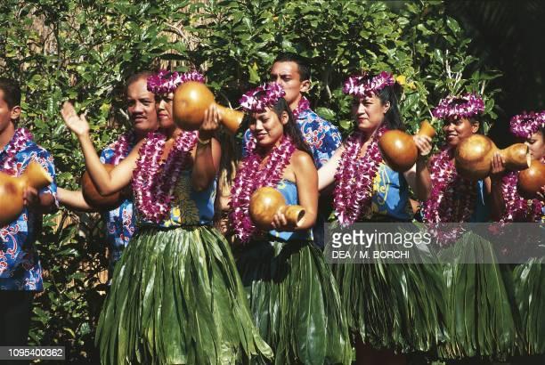Hula performance during the Kodak Hula Show Waikiki Beach Honolulu Oahu Island Hawaii United States of America