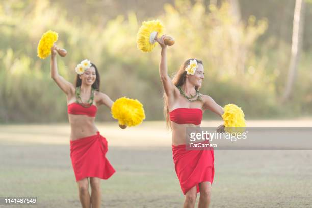 hula rehearsal! - hula dancer stock pictures, royalty-free photos & images