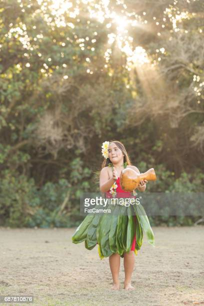 hula rehearsal! - beautiful polynesian women stock photos and pictures