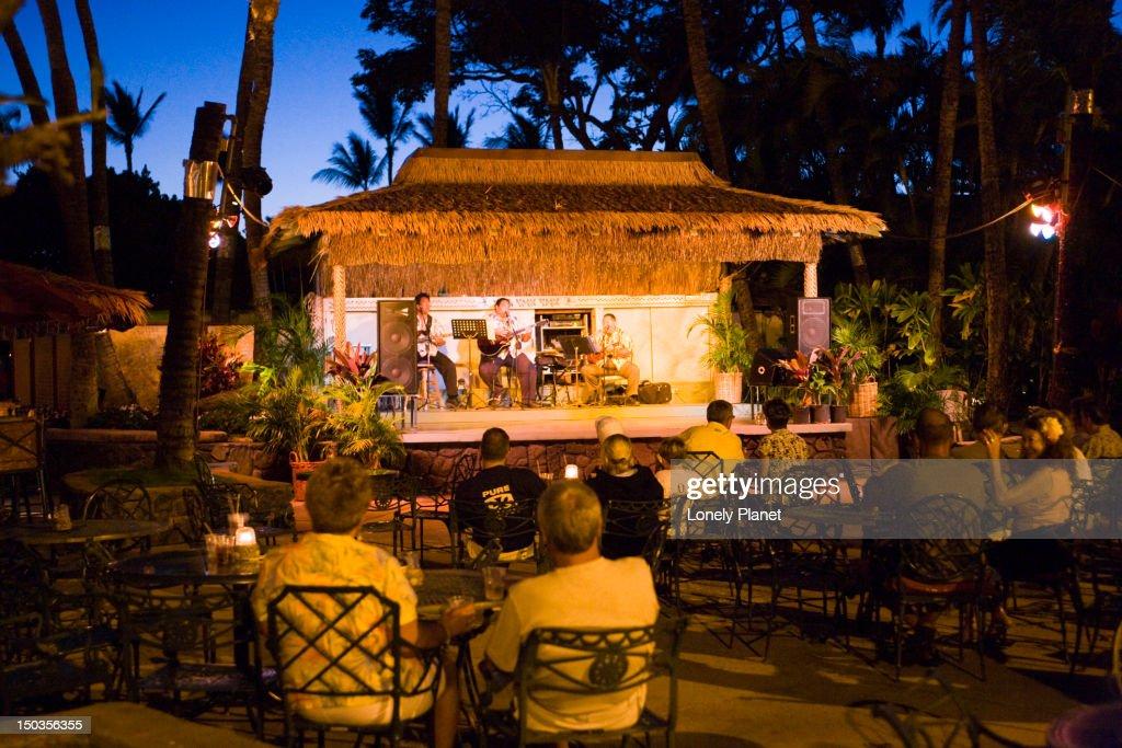 Hula Show At Kaanapali Beach Hotel West Maui High Res Stock