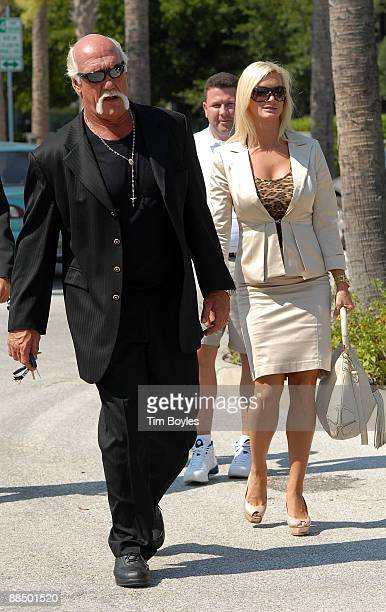 Hulk Hogan aka Terry Bollea and his girlfriend Jennifer McDaniel leave the courthouse after the divorce hearing between Hulk Hogan and his estranged...