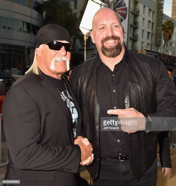 Hulk Hogan and Big Show attend the Los Angeles Premiere of Andre The Giant from HBO Documentaries on March 29 2018 in Los Angeles California