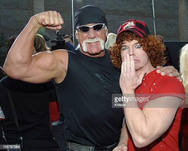 Hulk Hogan and Carrot Top during 2005 Billboard Music Awards - Red Carpet at MGM Grand in Las Vegas, Nevada, United States.