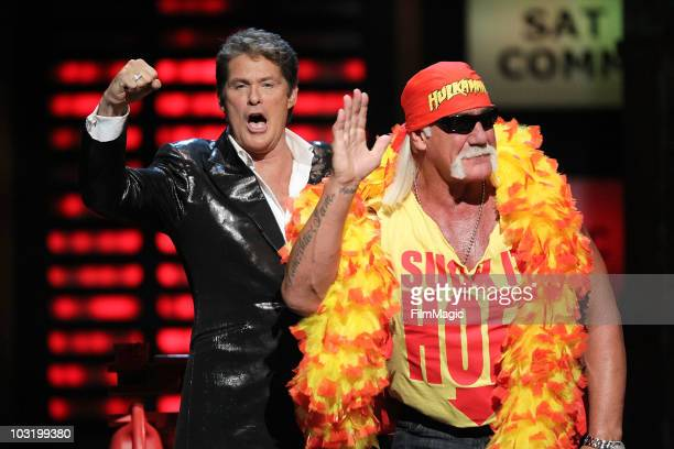 Hulk Hogan and David Hasselhoff onstage at Comedy Central's Roast of David Hasselhoff held at Sony Pictures Studios on August 1 2010 in Culver City...