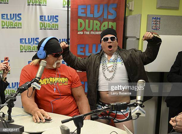 Hulk Hogan and Greg T during The Elvis Duran Z100 Morning Show at Z100 Studio on March 24 2014 in New York City