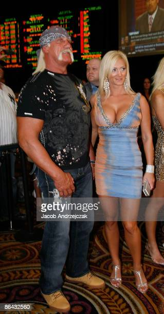 Hulk Hogan and Jennifer McDaniel arrive at the Pure Nightclub at Caesars Palace on May 5 2009 in Las VegasNevada