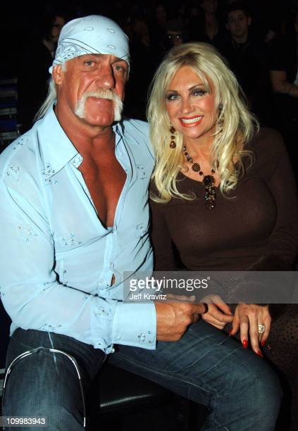 Hulk Hogan and Linda Hogan during VH1 Big in '05 Backstage and Audience at Sony Studios in Los Angeles California United States